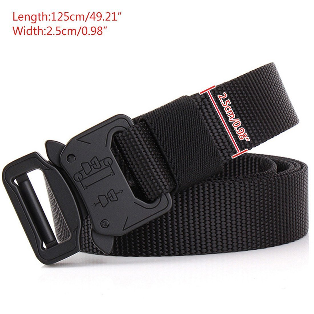 EIF Fei Men Tactical Belt Riggers Web Nylon Belt Adjustable Military Style