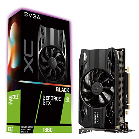 EVGA GeForce GTX 1660 XC Black Gaming, 6GB GDDR5, Fan HDB, Placa de Vídeo 06G-P4-1161-KR