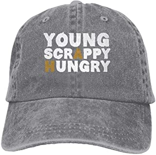hanbaozhou Cappellini Baseball Young Scrappy Hungry Denim Hat Adjustable Unisex Fitted Baseball Caps