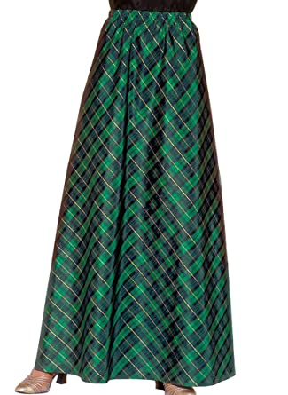 Plaid Taffeta Skirt at Amazon Women's Clothing store: