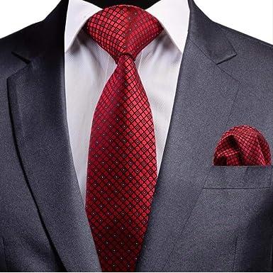 YiJiaMei Corbata floral de moda Corbata de seda a rayas de paisley ...
