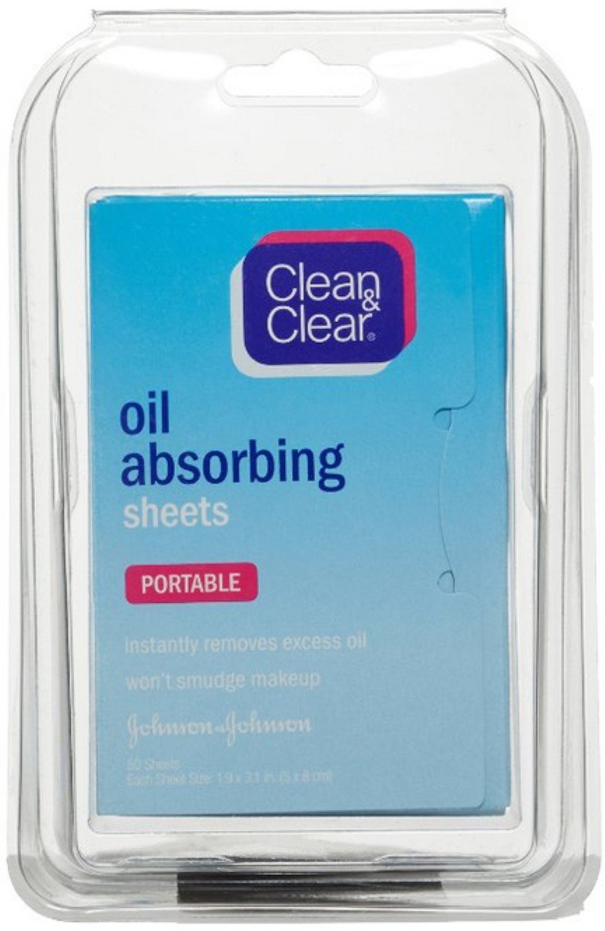 CLEAN & CLEAR Oil Absorbing Sheets 50 Each (Pack of 10)