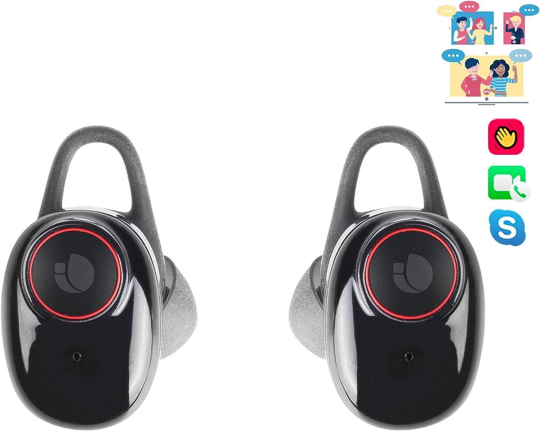 NGS Artica Freedom - Auriculares intrauditivos compatibles con tecnología Bluetooth 5.0 y con Tecnología True Wireless (8h de autonomía) Color Negro.
