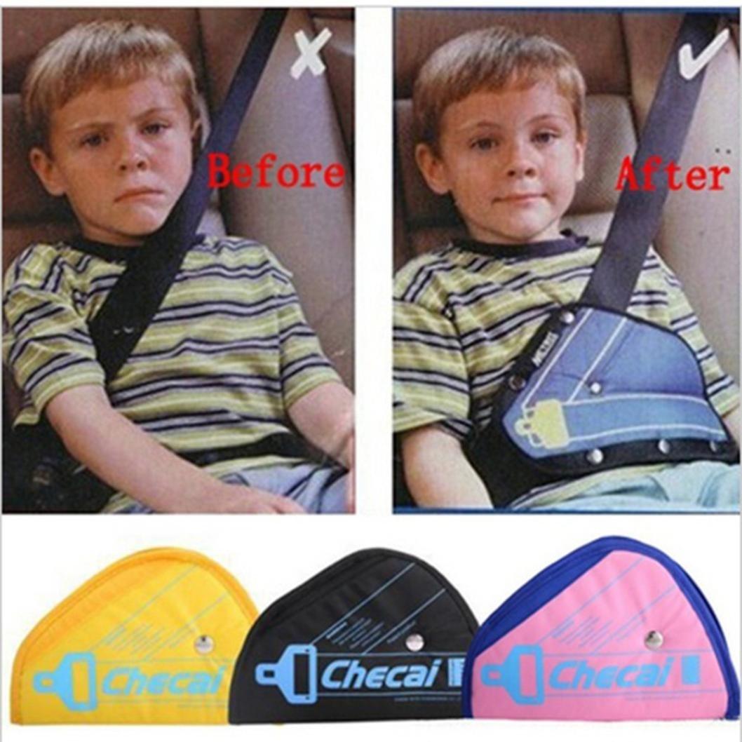 Diadia Seatbelt Pillow Car Seat Belt Covers for Kids, Adjust Vehicle Shoulder Pads Safety Belt Protector Cushion Plush Soft Auto Seat Belt Strap Cover Headrest Neck Support for Children Baby (Black)