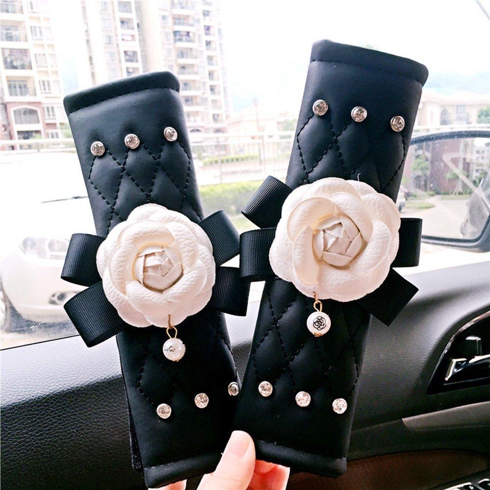 COGEEK Camellia Flower Car Air Vent Outlet Pocket Storage Holder for Phone Debris Keys Sunglasses Pens air Vent Storage Box