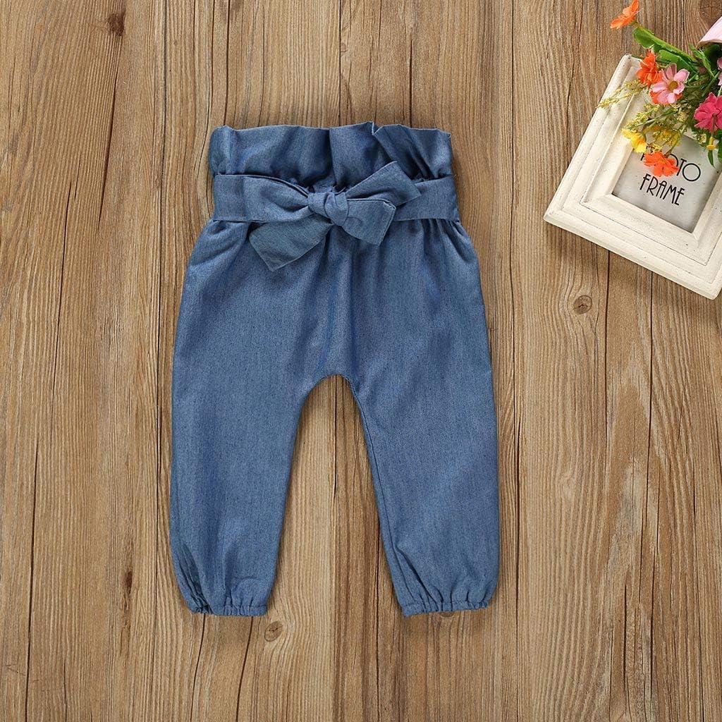 Mumustar Newborn Baby Girls Outfits Clothes Set 2Pc Romper Bodysuit+Denim Pants Jeans Outfits
