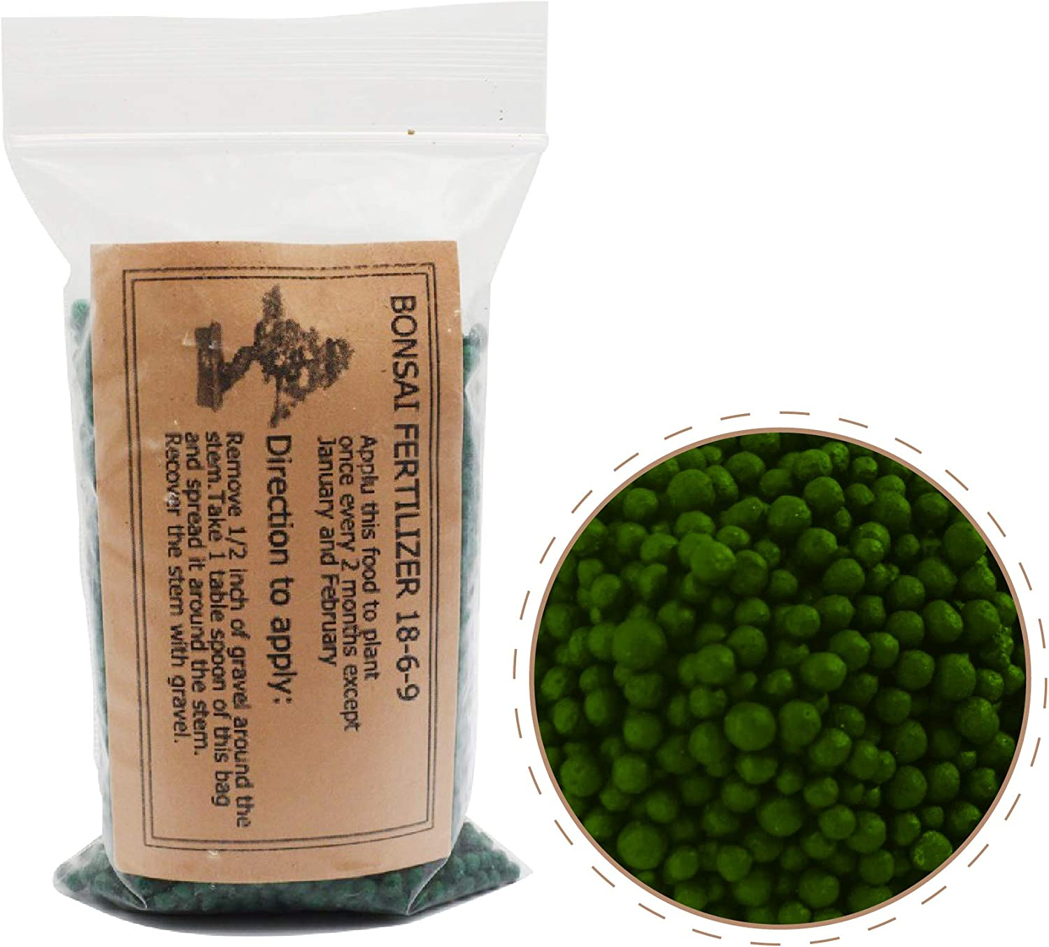 9GreenBox Bonsai Fertilizer Pellets - Ready-to-Use Time-Release Granular Food for Potted Dwarf Trees - Perfect for Beginners - Strong 18-6-9 Formula for Better Foliage and Healthier Roots - 5oz Bag