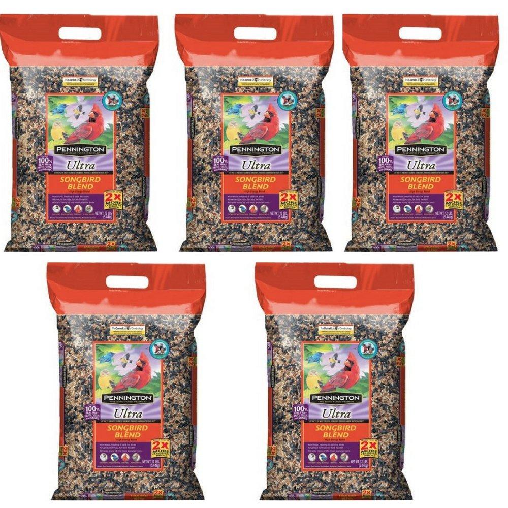 Pennington Ultra Songbird Blend Bird Seed, 12 lbs (5 pack)