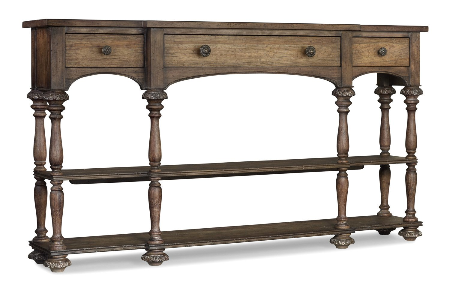 Attractive Amazon.com: Hooker Furniture Rhapsody Thin Console Table In Rustic Walnut:  Kitchen U0026 Dining