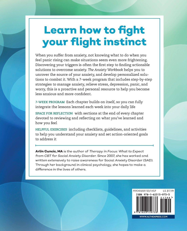 Workbooks best anxiety workbook : The Anxiety Workbook: A 7-Week Plan to Overcome Anxiety, Stop ...