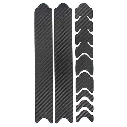 Carbon Schwarz Fahrrad Aufkleber Rahmen Schutz Folie MTB BMX Ketten Streben
