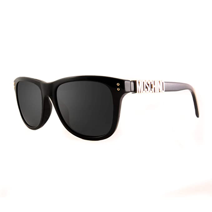 Amazon.com: anteojos de sol Moschino Mos 3/S 0807 Negro/IR ...