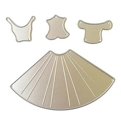 Gosear 4 Piezas de Acero al Carbono Vestido Relieve Plantillas de Plantillas de moldes de Corte
