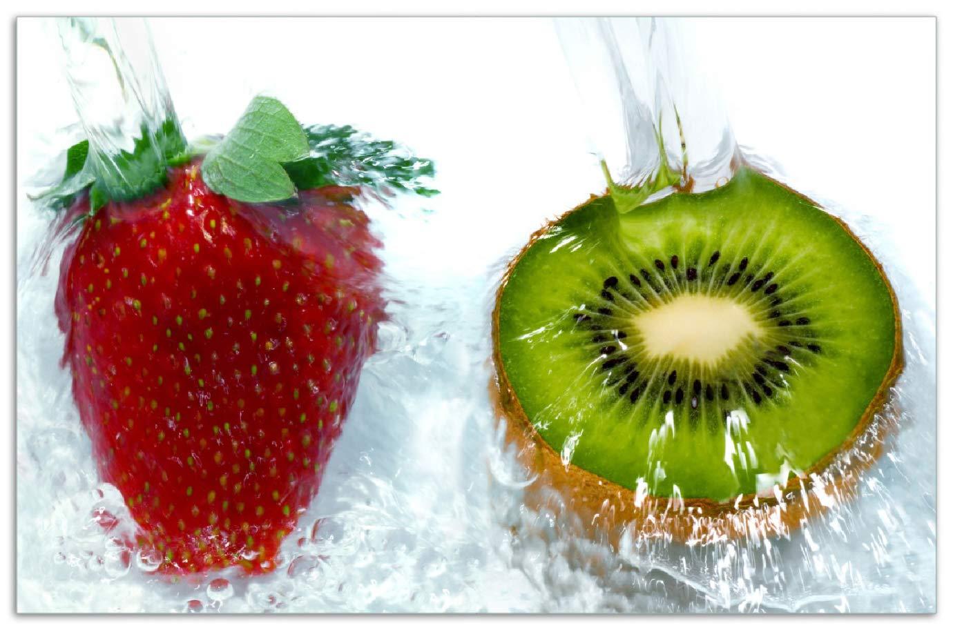 Frische Früchte Wallario Herdabdeckplatte 2-teilig aus Glas 80x52cm