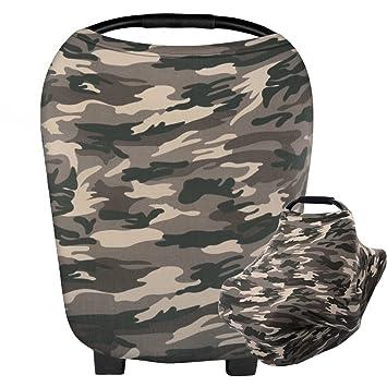 HONEYHOMEY Camouflage Baby Car Seat Cover Multi Use Nursing Breastfeeding Scarf