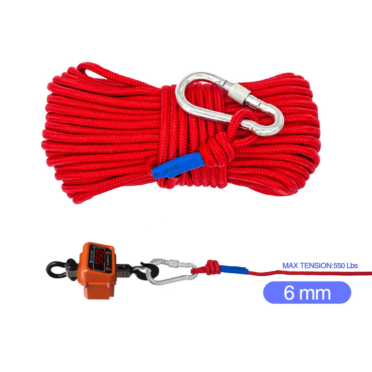 Fishing Magnet with 66ft Rope & Glove, Wukong 760LB Pulling Force Super Strong Neodymium Magnet with Heavy Duty Rope & Carabiner for Magnet Fishing and Retrieving in River - 67mm Diameter by Wukong (Image #9)