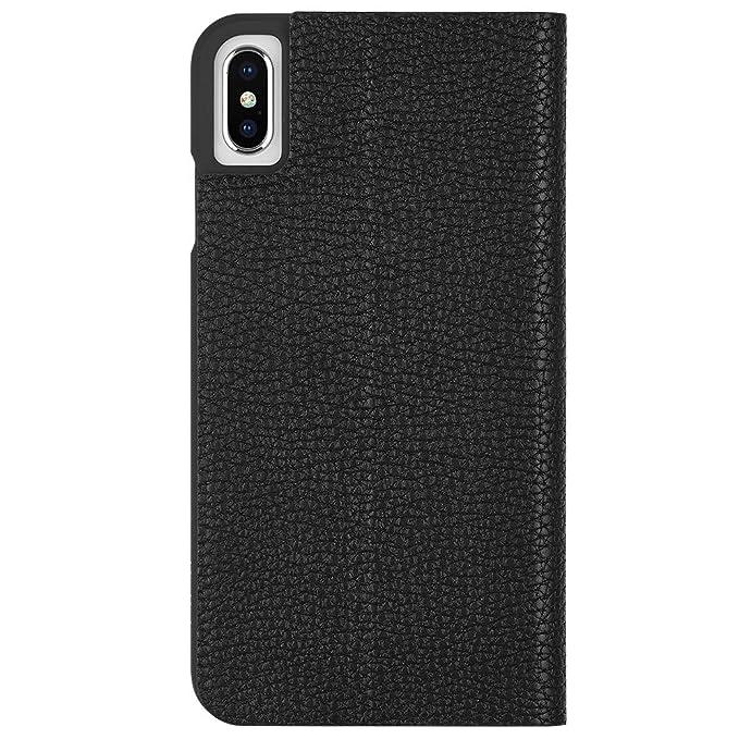 new concept d2e00 e99fc Case-Mate - iPhone XS Max Wallet Folio Case - BARELY THERE FOLIO - iPhone  6.5 - Black Folio