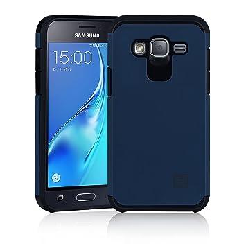 32nd Funda Armadura Rigida Slim Armour con Doble Carcasa para Samsung Galaxy J3 (2016) SM-J320 - Azul Pizarra