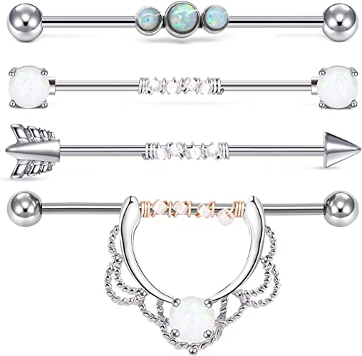 Amazon Com Briana Williams 14g Surgical Steel Industrial Barbell