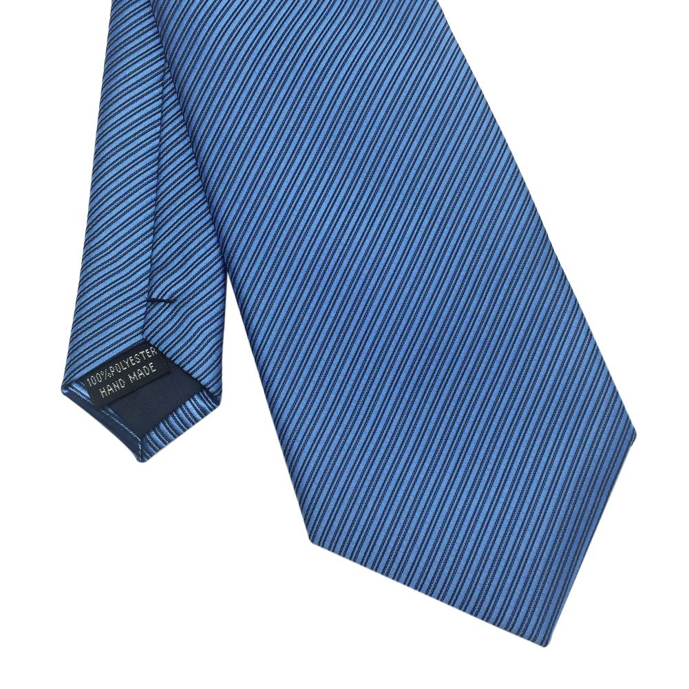 Light Blue Various Colors Mens Necktie with Stripe Textured 8 cm 3 inches