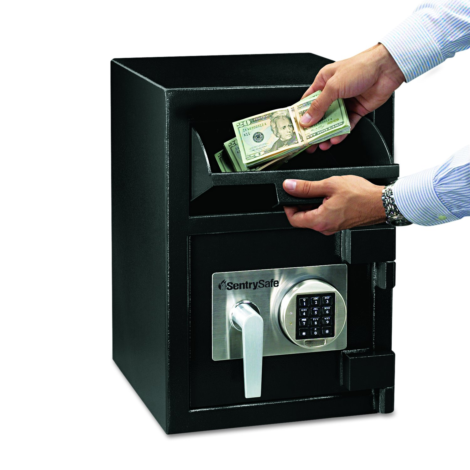 SentrySafe Depository Safe, Large Digital Money Safe, 0.94 Cubic Feet, DH-074E