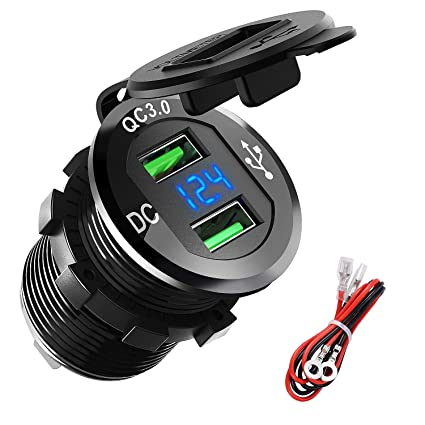 Amazon.com: ADSDIA - Cargador de coche USB de carga rápida ...