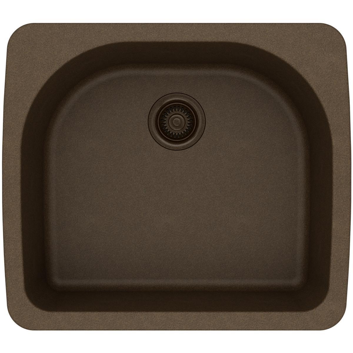 Elkay Quartz Classic ELGS2522MC0 Mocha Single Bowl Top Mount Sink
