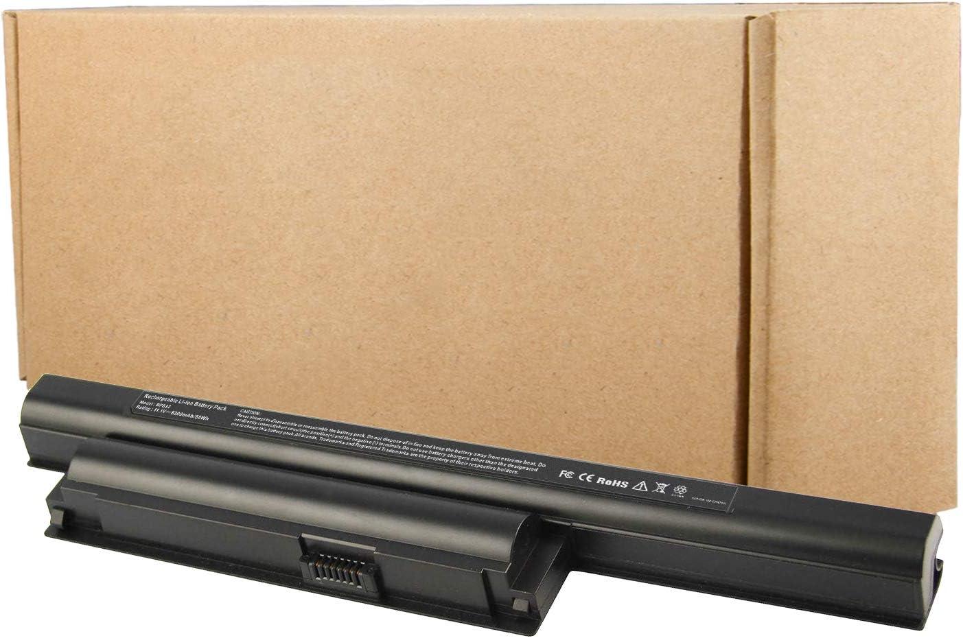 'ARyee VGP-BPS22 Battery Compatible with Sony VGP-BPS22 VGP-BPS22A VGP-BPL22 VGP-BPS22/A VAIO VPC-E1Z1E VPC-EA VPCEA24FM VPCEE22FX VPCEE23FX(5200mAh 11.1V)