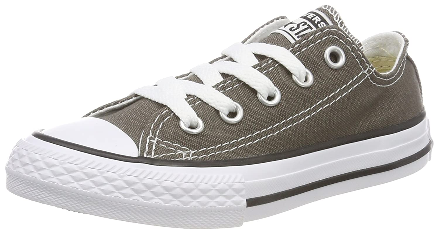 Braun (Charcoal 010) Converse Unisex-Kinder CTAS-ox-Charcoal-Infant Fitnessschuhe