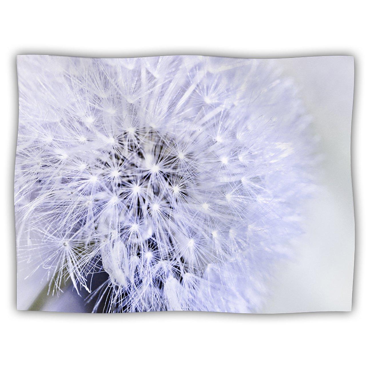 Kess InHouse Debbra Obertanec ''Lavender Wish'' Purple Flower Pet Blanket, 40 by 30-Inch