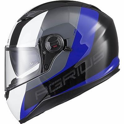 Agrius Rage SV Recon Motorcycle Helmet XL Gloss Black/Blue
