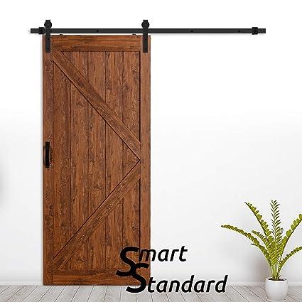 SmartStandard 36in x 84in Antique Sliding Barn Door Kit, Bored &  Pre-Slotted Hand - Amazon.com: SmartStandard 36in X 84in Antique Sliding Barn Door Kit