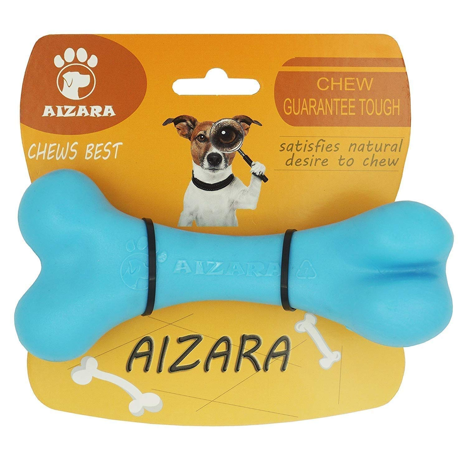 Aizara Dog Chew Toys for Aggressive Chewers, Tough Indestructible Dog Toys for Large Dogs, Durable Nylon Puppy Bone Toys for Training Keeping Pets Fit