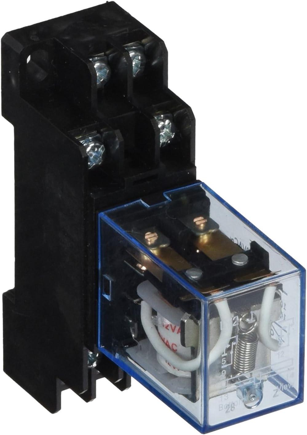 Cc 24V Bobina 10A Dpdt Controllo Motore Relè Elettromagnetico Con Presa