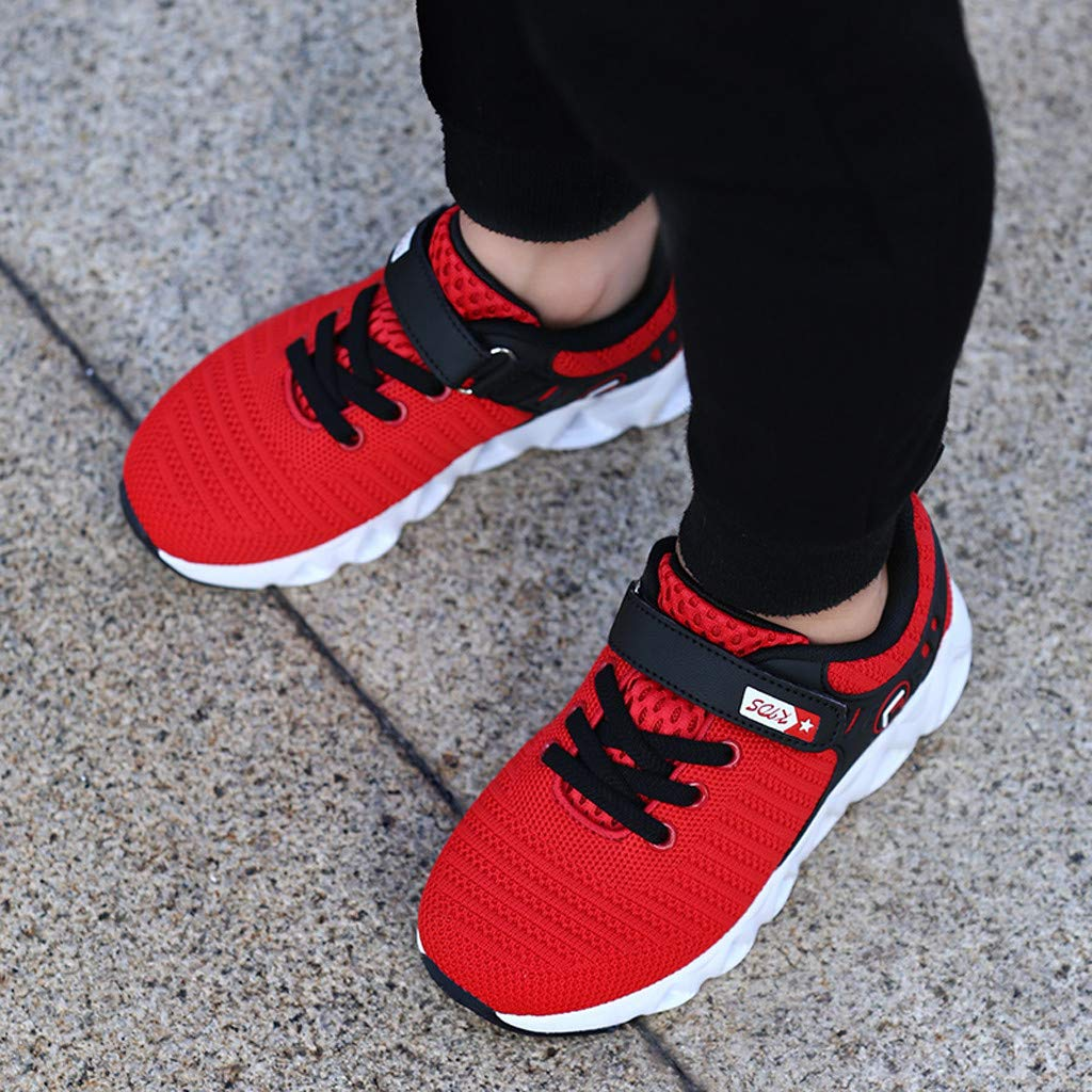 8-16Years Children Boys Girls Casual Mesh Breathable Outdoor Kids Sneakers Running Shoes