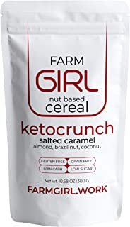 Farm Girl Breakfast Keto Granola - Delicious Taste - Low Carb Cereal, Gluten & Grain Free- High Fat, High Protein Keto Cereal
