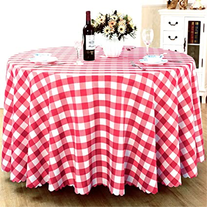 Round Premium Plaid Tablecloth For Wedding Banquet Restaurant Party Holiday  Dinner Polyester Fabric Table Cloth Multi