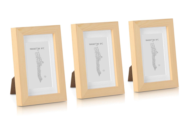 Amazon.de: Classic by Casa Chic Bilderrahmen aus Massivholz 10x15 ...