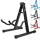 H&S® Colourful Universal Folding A-Frame Electric Acoustic Bass Guitar Floor Stand Holder (Black)