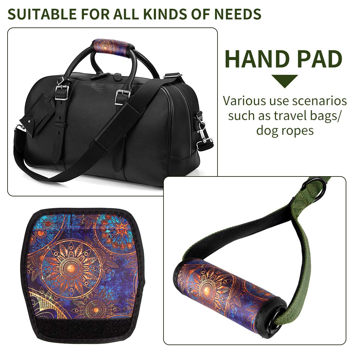 3 Pcs a Set Comfort Neoprene Handle Wraps//Grip//Identifier for Travel Bag Luggage Suitcase Baby Carriage