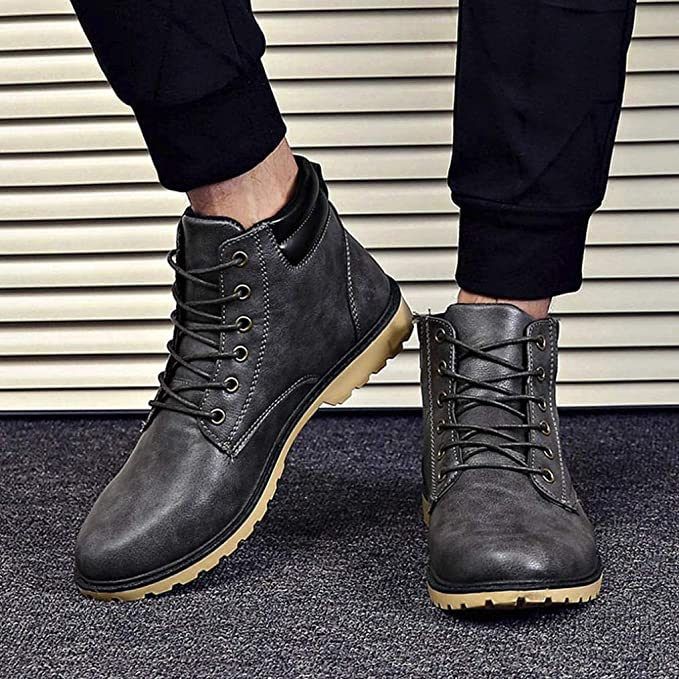 WWricotta Zapatillas Casual Hombres Botas Cómodas Calzado Bajas Transpirables Andar Zapatos Planos Bambas con Cordones: Amazon.es: Ropa y accesorios
