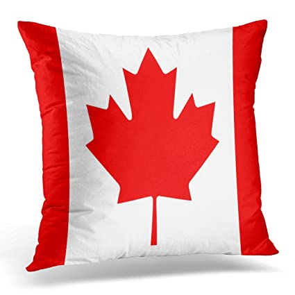 Amazon UPOOS Throw Pillow Cover Red Canadian Flag Of Canada Custom Cheap Decorative Pillows Canada