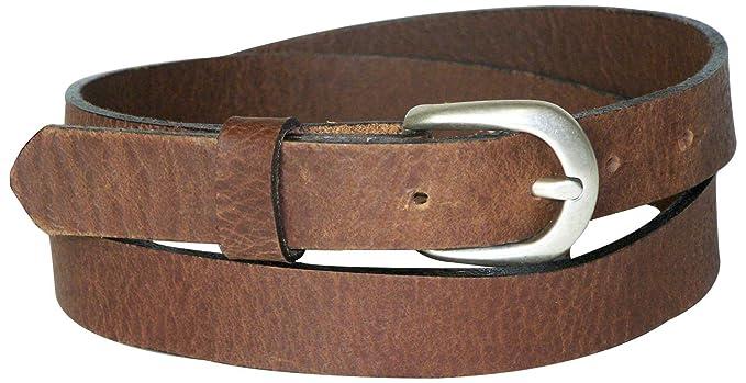 07f360f461af Fronhofer Fine ceinture de 2,5 cm avec une boucle couleur argent vieilli,  ceinture