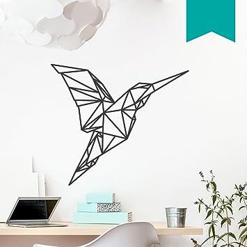 WANDKINGS Wandtattoo U0026quot;Origami Style Kolibriu0026quot; 130 X 115 Cm   Türkis