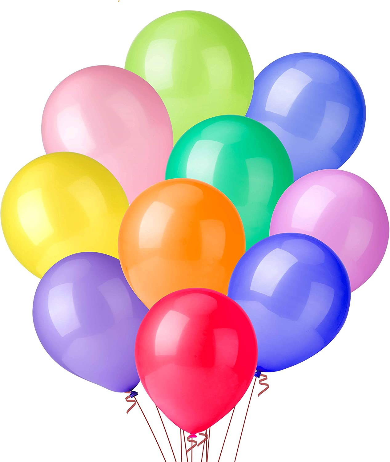 100 PCS Party Balloons, 12 Inch High Quality Assorted Colorful Balloons, Thickened Color Balloons Set, Ideal Decoration for Birthday, Party, Christmas, Wedding, Anniversary and Vacation