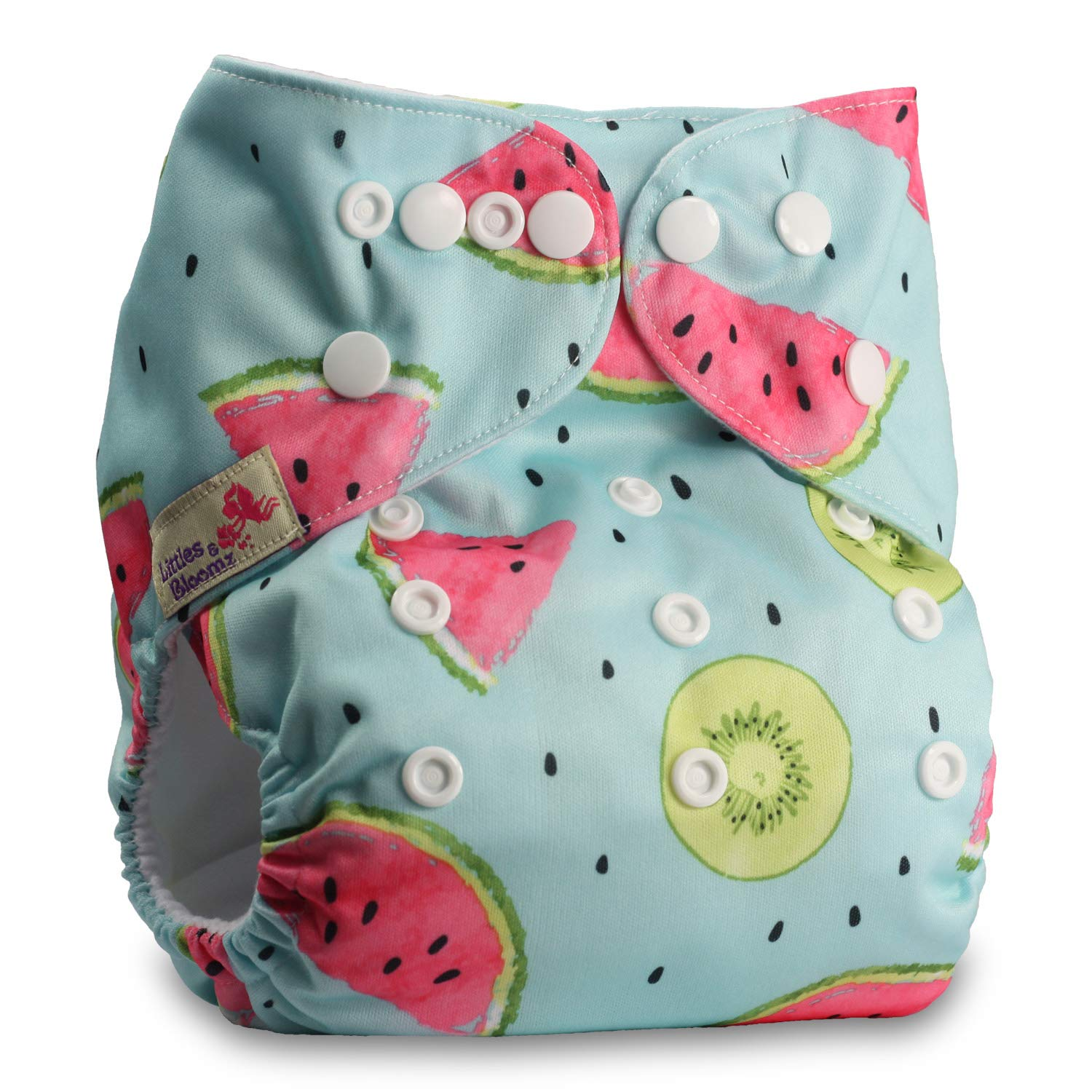 Baby Cloth Washable Reusable Nappy Pocket Diaper Bamboo with 2 Bamboo Charcoal Inserts Fastener: Popper Littles /& Bloomz Pattern 11