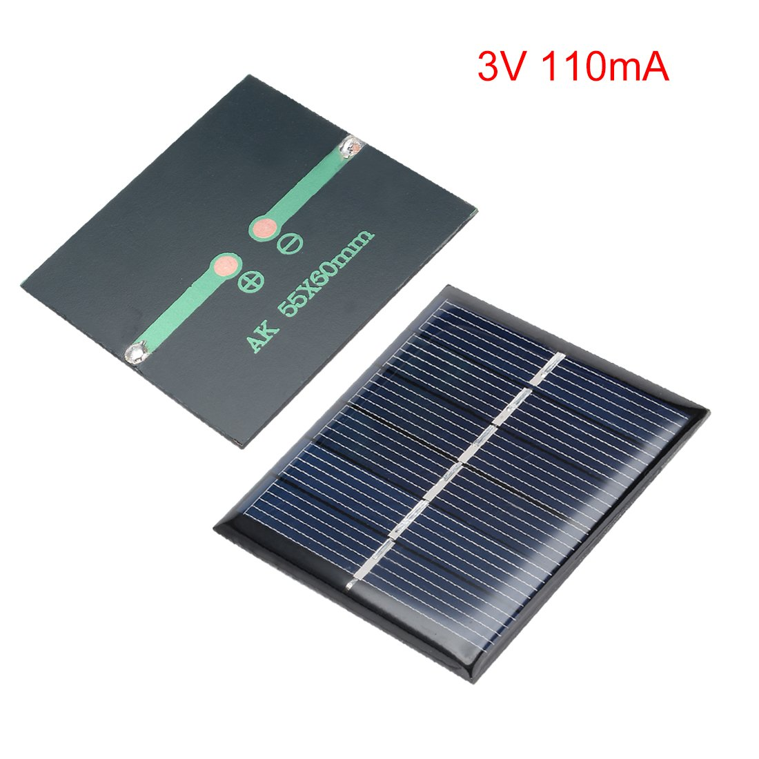 sourcing map 5Pcs 3V 110Ma Poli Mini Módulo De Panel Solar ...