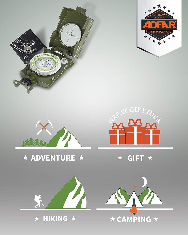 AOFAR Telemetro per Caccia H2 Selvaggio Plus 1000 Metri,Camo Impermeabile Batteria Gratuita Range e Bow Modello 6X 25mm Imballaggio Regalo
