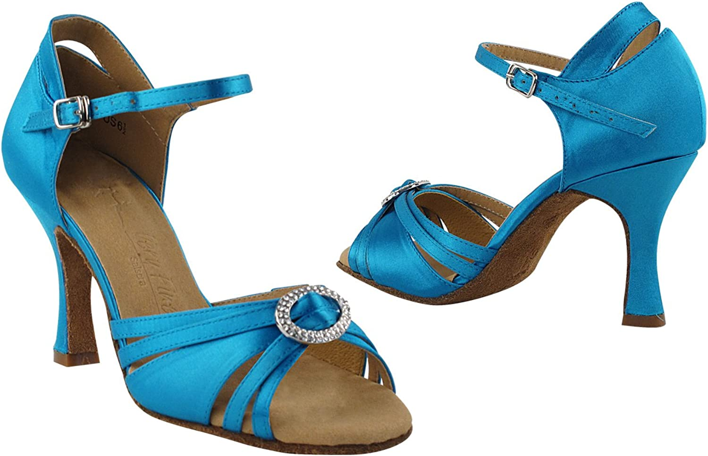 Size 5 GP 50 ShadeS Wedding Dance Dress Shoes SERA1154 Blue Satin 2.5 Heel