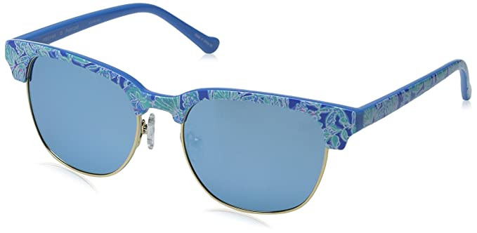 5dfad9144f Lilly Pulitzer Women s Meghan Polarized Square Sunglasses Into The Deep  51.0 mm